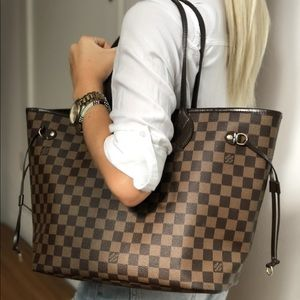 Authentic Louis Vuitton Neverfull MM Damier Tote
